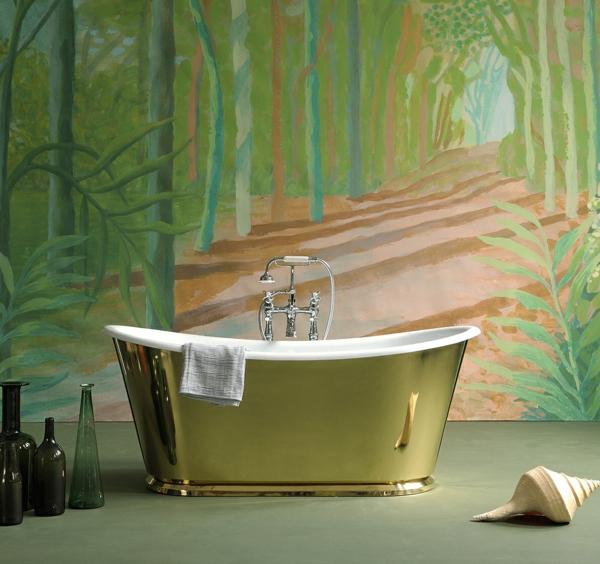 badmöbel Drummonds freistehende badewanne gold
