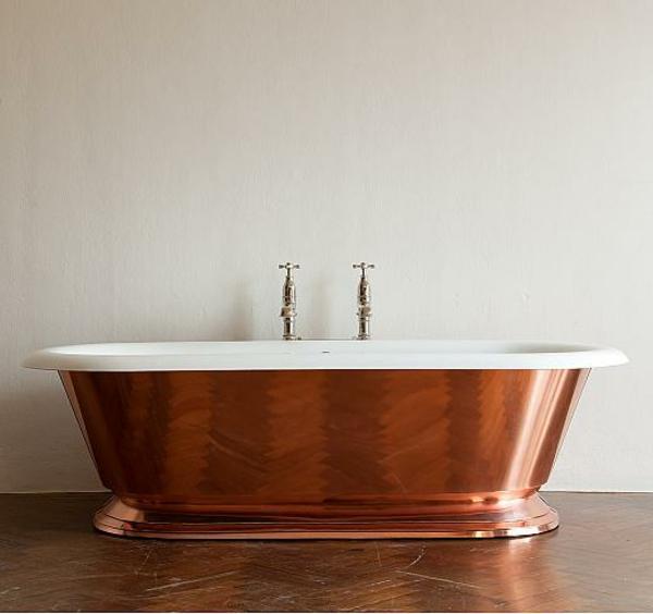 badmöbel Drummonds freistehende badewanne kupfer farbe