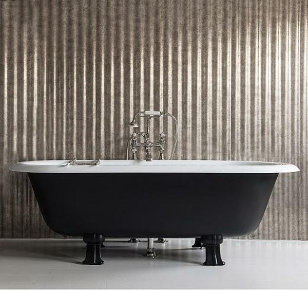 badmöbel Drummonds freistehende badewannen schwarz