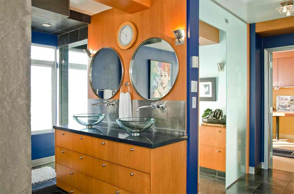 Badezimmer Design 2 Badspiegel Rund