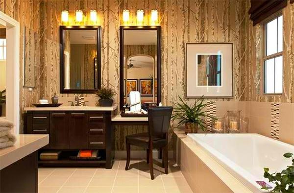 badezimmer badspiegel badmöbel beleuchtung dekoideen