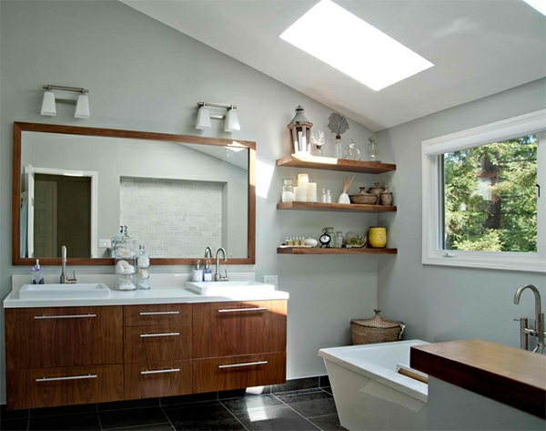 badezimmer design badspiegel badmöbel