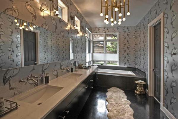 badezimmer design badspiegel badmöbel kronleuchter