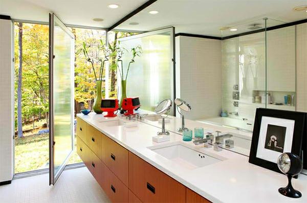 badezimmer design badspiegel spiegelwand