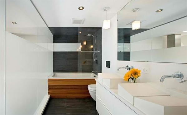 badezimmer design badspiegel weiß