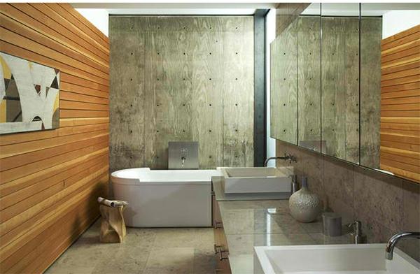badezimmer rustikal badspiegel badmöbel