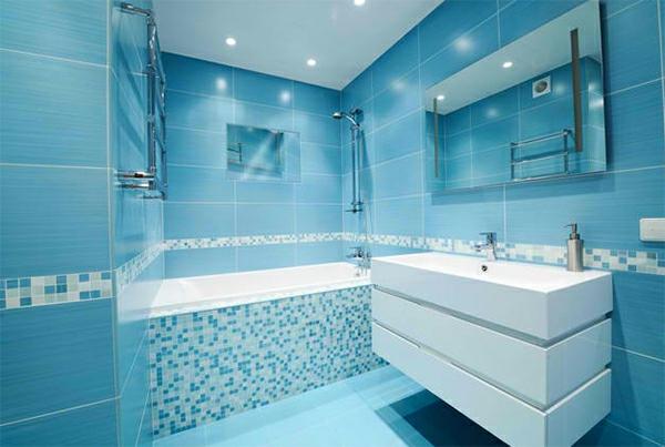 badezimmer design viele badspiegel