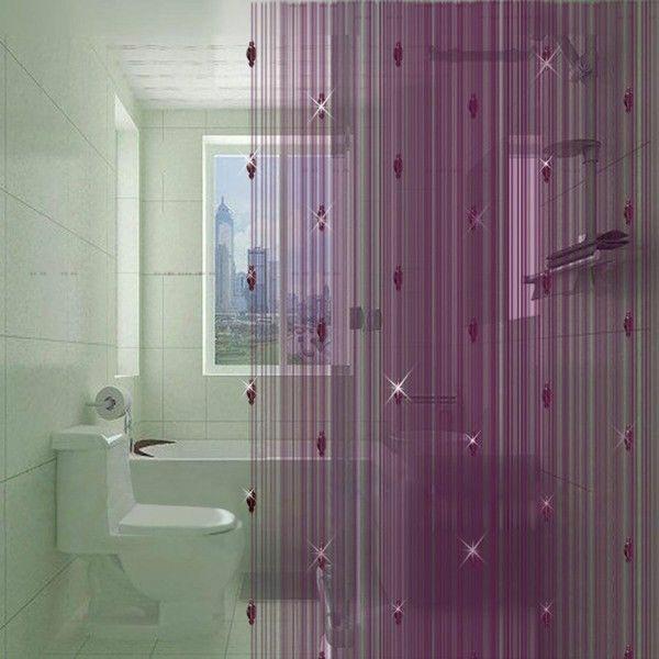 gardinen dekorationsvorschläge fadenvorhang lila