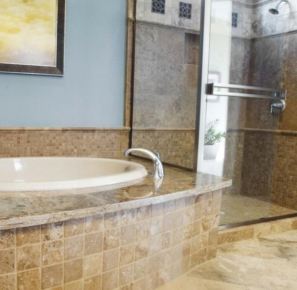 Badezimmer Gestalten Badewanne Verkleiden Einbauwanne Dusche Fliesen  Keramikplatte