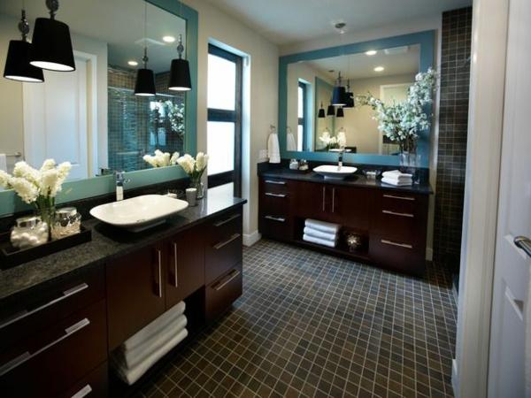 badezimmer spiegel badmöbel holz