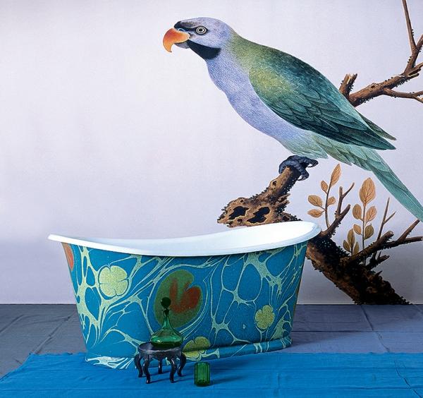 wandgestaltung badmöbel freistehende badewannen ideen