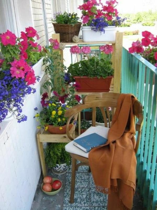 balkon bepflanzen blumenkasten bunt pflegeleicht