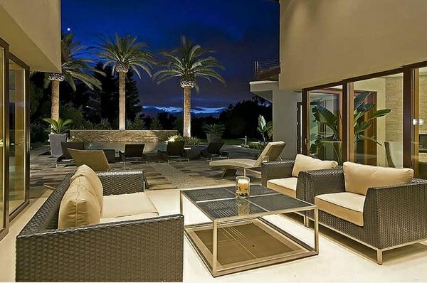 balkonmöbel set rattan gartenmöbel palmen outdoor lounge