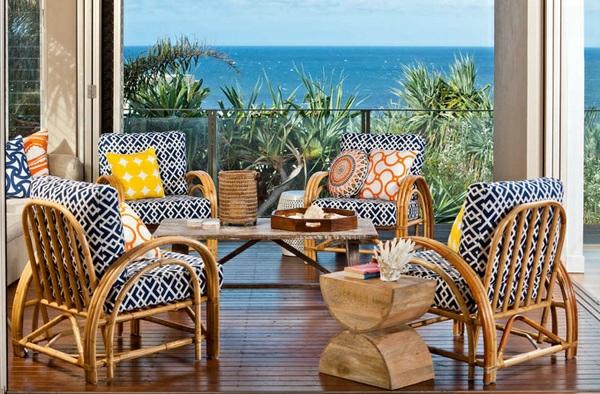 balkonmöbel set rattan  lounge möbel terrassendielen meerblick