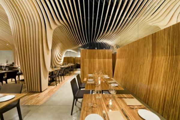 bambusmöbel bambusholz restaurant einrichtung