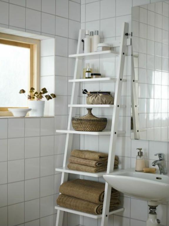bedezimmer möbel holz handtuchleiter badmöbel natürlicher look