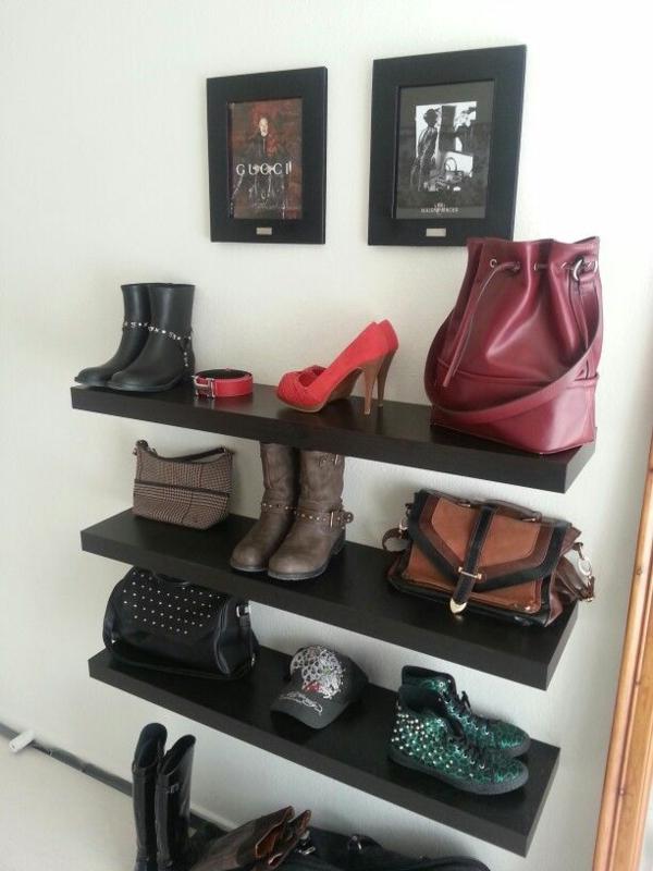 begehbaren kleiderschrank selber bauen ankleidezimmer möbel wandregal taschen schuhe