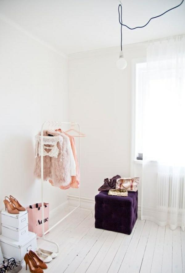 begehbaren kleiderschrank selber bauen möbel kisten kleiderständer