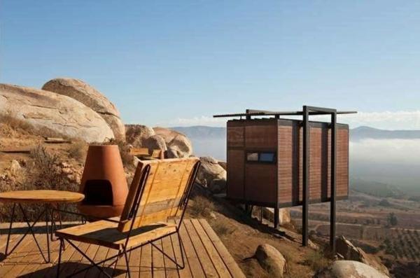 besondere ferienhäuser terrassengestaltung terrassendielen holz nachhaltiges design