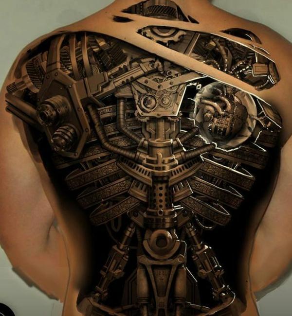 tattoo motive geile tattoos 3d rücken