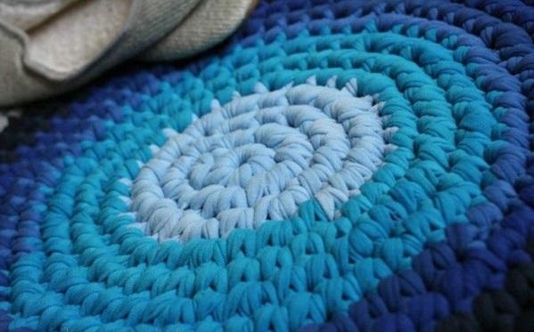 Kinderteppich blau rund  DIY Teppiche und Fußmatten - Bunt wohnen !