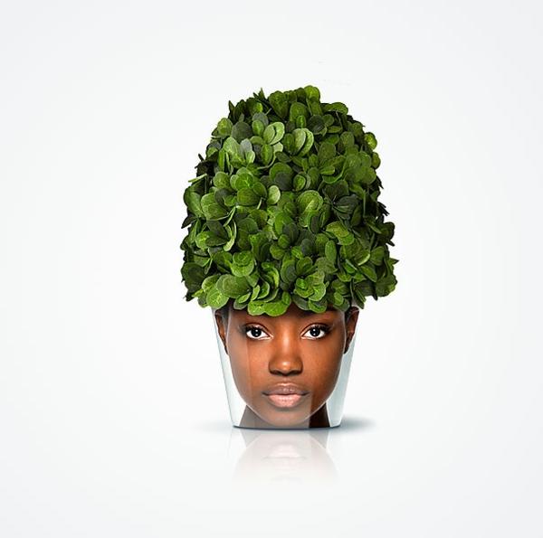 blumenkübel gesicht design ideen moderne pflanzgefäße good zimmerpflanzen