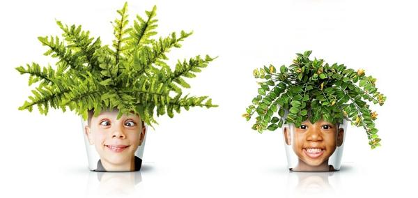 blumenkübel moderne pflanzgefäße deko ideen good designer zimmerpflanzen gesicht blumentopf