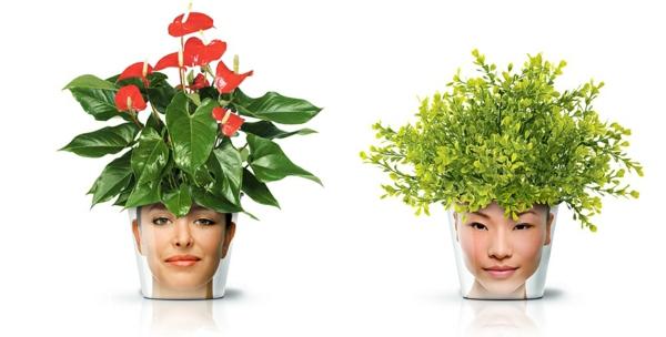 blumenkübel moderne pflanzgefäße deko ideen good zimmerpflanzen gesicht blumentopf