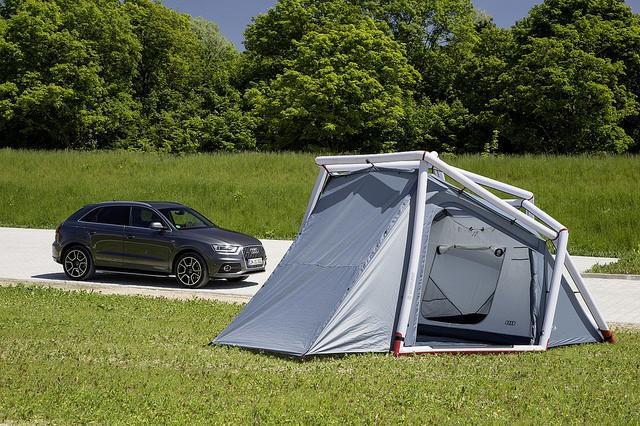 camping zelt audi Q3 designer zelte von heimplanet