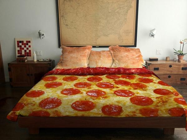 coole peperoni lecker bettwäsche pizza