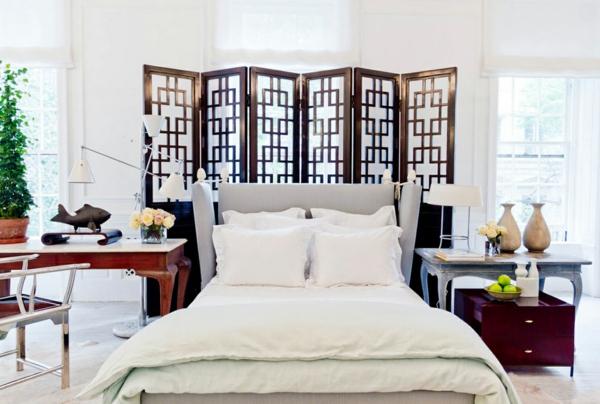 Coole Einrichtungsideen Schlafzimmer Raumteiler Paravent