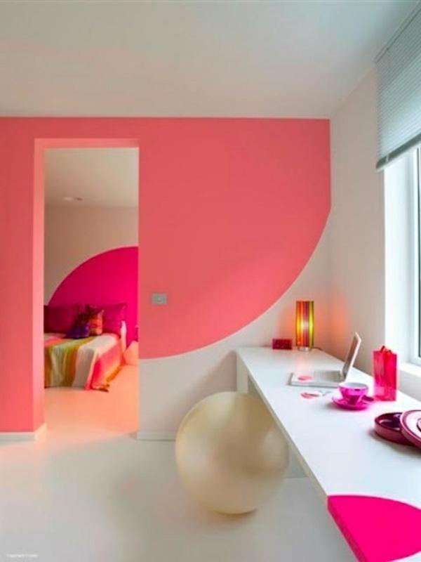jugendzimmer mädchen dekorative wand schminktisch