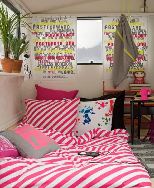 jugendzimmer mädchen designideen rosa und weiß