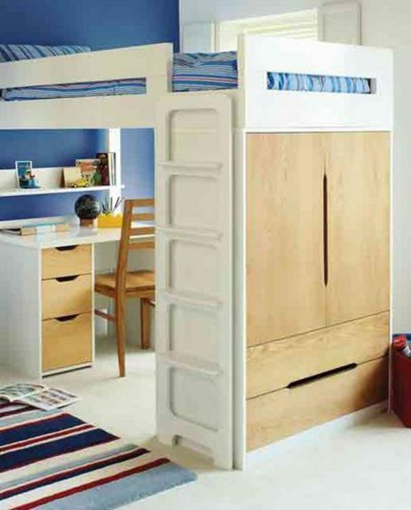 jugendzimmer gestalten designideen schreibtisch stockbett