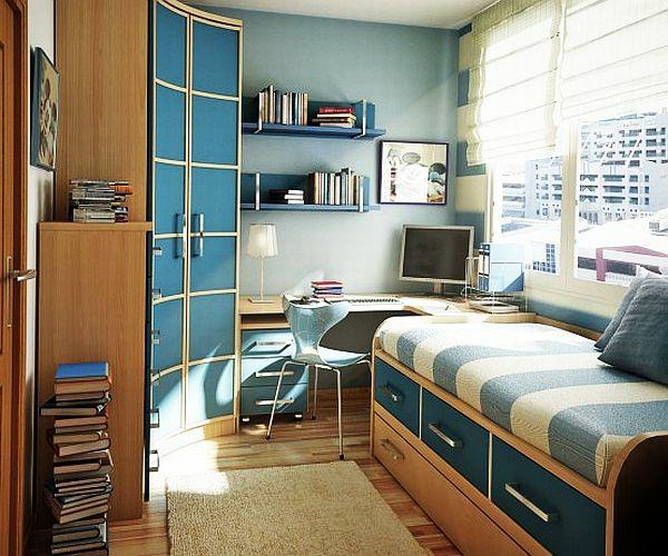 jugendzimmergestaltung modern bett lagerraum schreibtisch