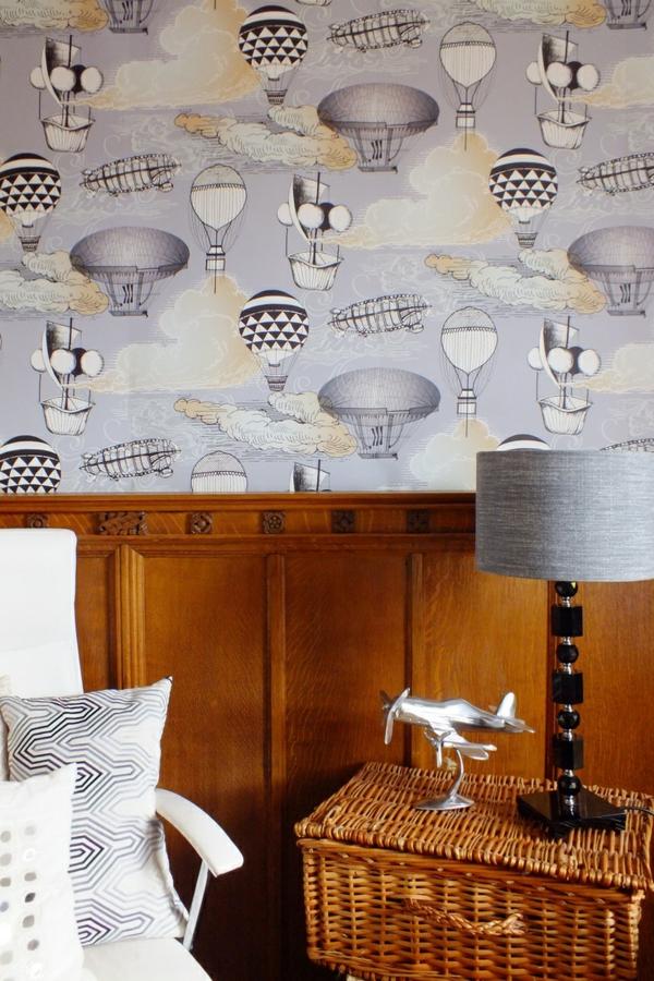 Schwarze Tapete Mit Wei?em Muster : Kinderzimmer Tapeten – farbige Ideen f?r Ihr Interieur