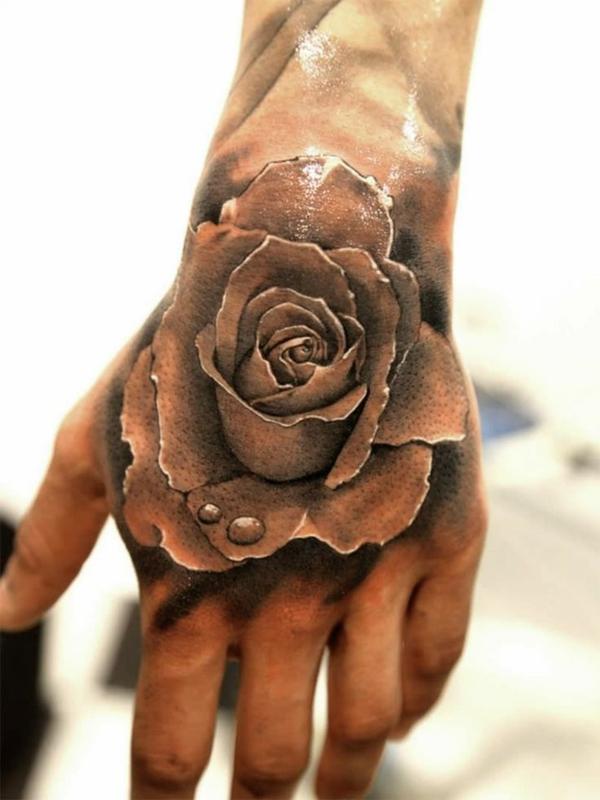 coole tattoos 3d rose blumen tattoo