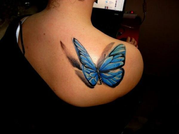 coole tattoos 3d schmetterling tattoo rücken