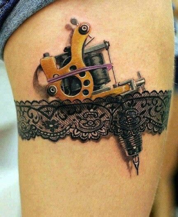 coole tattoos 3d strumpfhalter