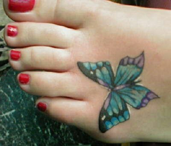 tattoos designs fuss tattoo schmetterling motiv