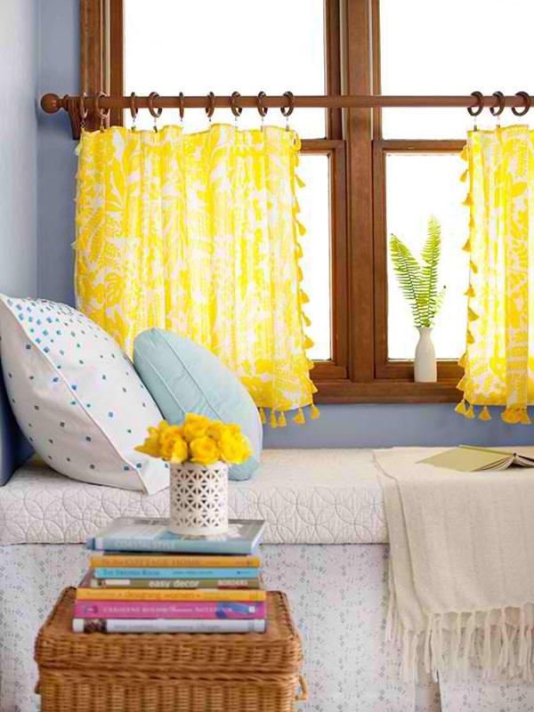 deko gardinen fenster dekorieren gardinen selber nähen diy fensterdeko