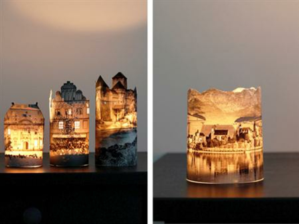 deko selber machen recyceln materialien leuchten