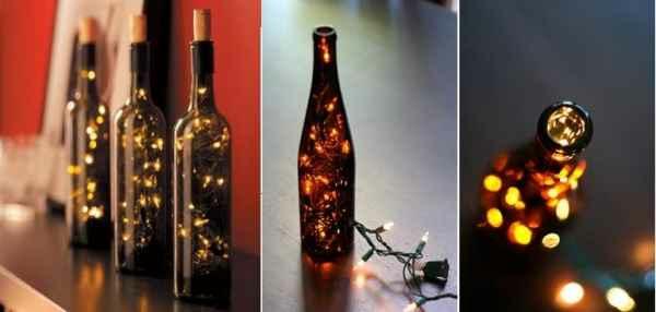 deko selber machen recyceln materialien licht