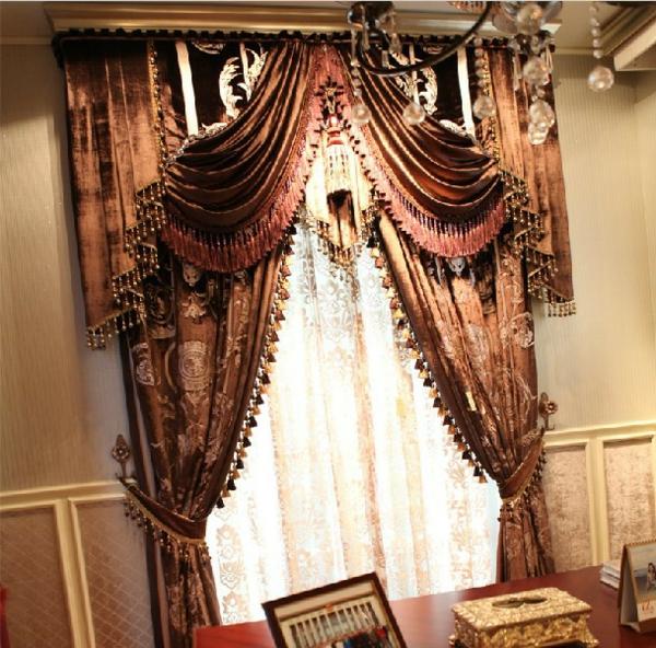 gardinen dekorationsvorschläge vorhänge warme farben