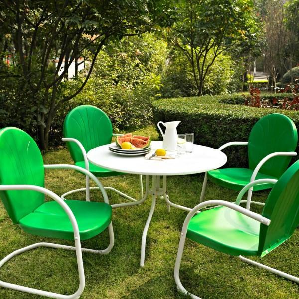 dekoideen outdoor möbel esstisch stühle