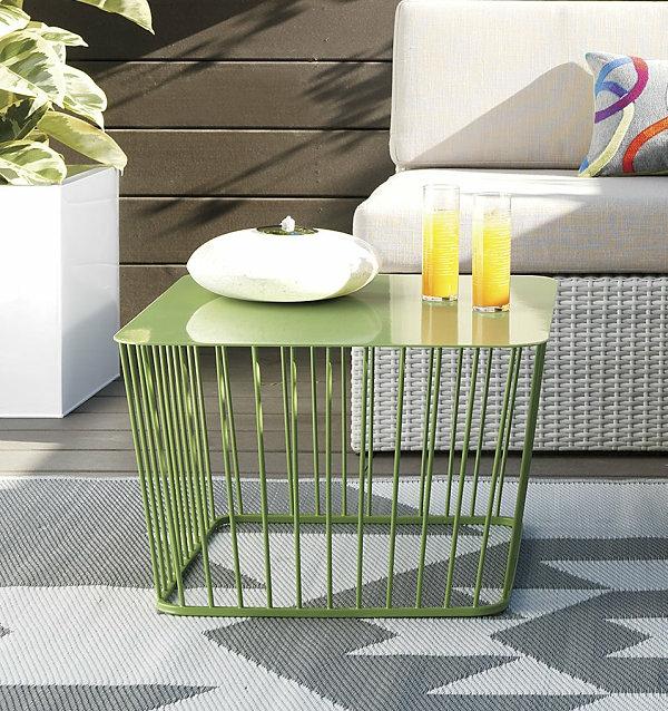 dekoideen outdoor möbel tisch