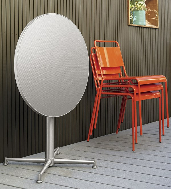 dekoideen möbel orange stühle