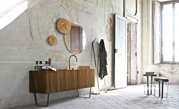 Designer Badmöbel Altamarea Designer Möbel Badezimmer Unterschrank Holz  Hocker