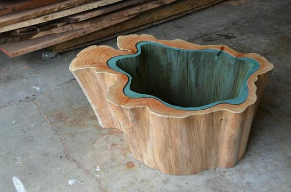 esstisch glas türkis massivholz natürlich designer