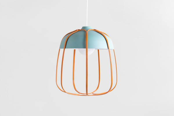 designer hängeleuchten blau orange Tull Tommaso Caldera